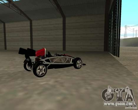 Ariel Atom V8 pour GTA San Andreas sur la vue arrière gauche