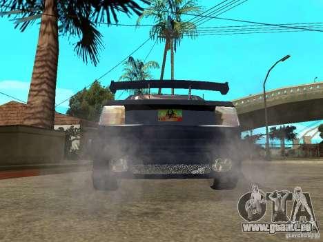 VW Jetta pour GTA San Andreas sur la vue arrière gauche