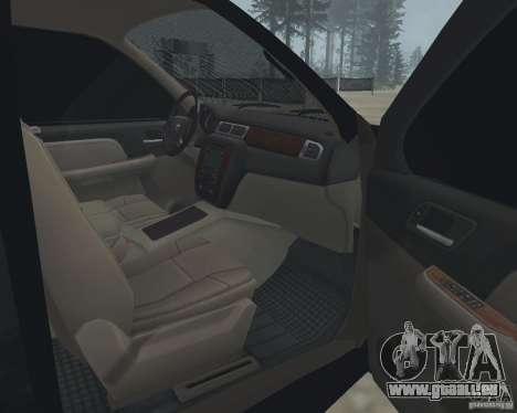 Chevrolet Tahoe BLACK EDITION für GTA San Andreas Innenansicht