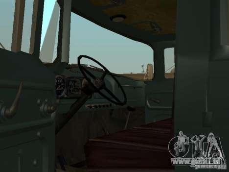 ZIL-130-Doppelkabine für GTA San Andreas rechten Ansicht