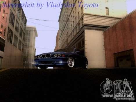 BMW E39 M5 2004 pour GTA San Andreas laissé vue