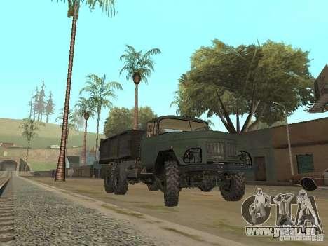 ZIL 131 camion pour GTA San Andreas sur la vue arrière gauche