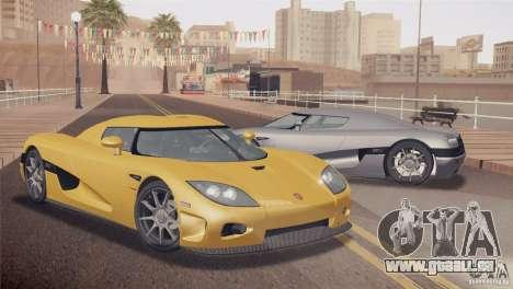Koenigsegg CCX 2006 v2.0.0 für GTA San Andreas zurück linke Ansicht
