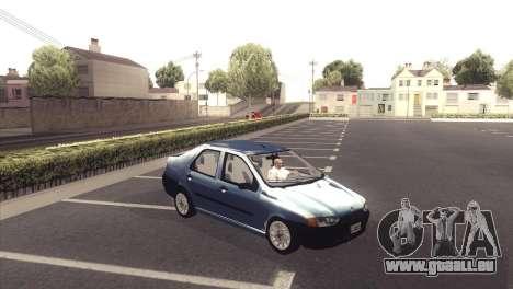 Fiat Siena 1998 pour GTA San Andreas vue arrière