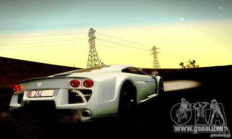 Noble M600 Final für GTA San Andreas obere Ansicht