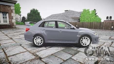 Subaru Impreza WRX 2011 pour GTA 4 est une vue de l'intérieur