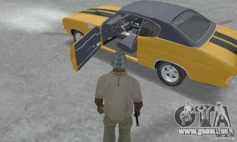 Chevrolet Chevelle SS 1972 pour GTA San Andreas vue arrière
