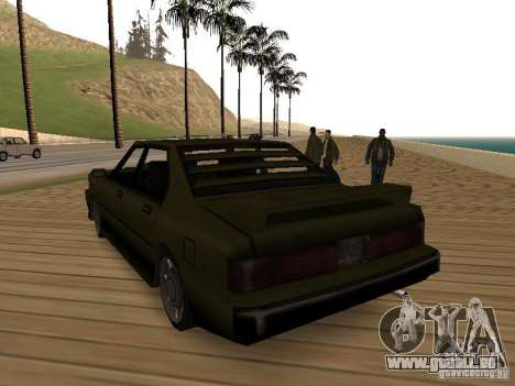 Sentinel XS pour GTA San Andreas sur la vue arrière gauche