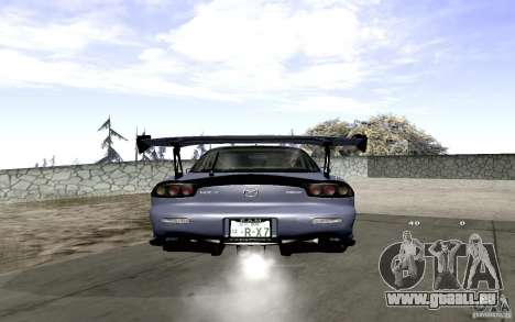 Mazda RX-7 Hellalush für GTA San Andreas Rückansicht