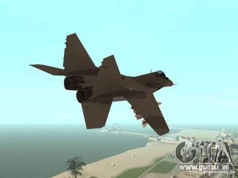 MIG-29 de la COD MW2 pour GTA San Andreas vue arrière