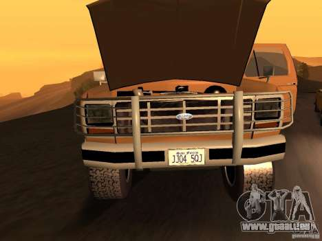 Ford Bronco 1985 pour GTA San Andreas sur la vue arrière gauche