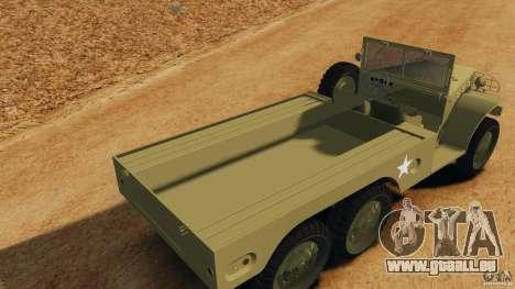 Dodge WC-62 3 Truck pour GTA 4 vue de dessus
