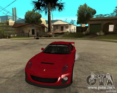 Ferrari 612 Scaglietti GTS LaMans TUNING pour GTA San Andreas vue arrière