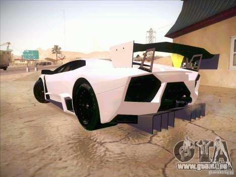 Lamborghini Reventon GT-R pour GTA San Andreas laissé vue