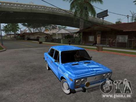 VAZ 2106 rétro V2 pour GTA San Andreas vue intérieure