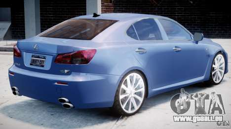 Lexus IS F pour GTA 4 est une vue de dessous