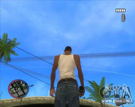 Smoke grenade HD pour GTA San Andreas troisième écran