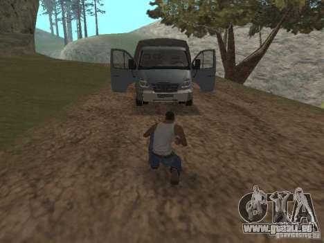 GAZ-3310 Valdaï pour GTA San Andreas vue arrière