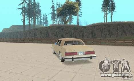 Mercury Grand Marquis LS 1986 pour GTA San Andreas laissé vue