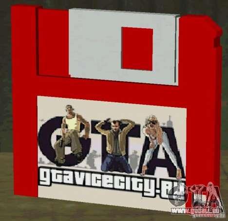 Neue HD-Diskette speichern für GTA San Andreas