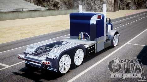 Peterbilt Truck Custom für GTA 4 hinten links Ansicht
