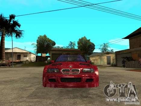 BMW M3 GTR Le Mans für GTA San Andreas rechten Ansicht