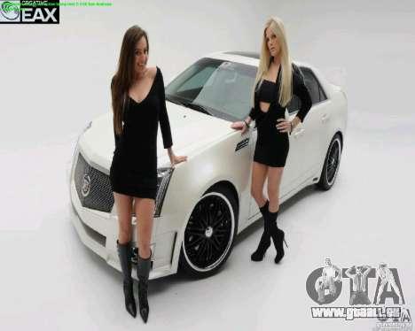 Écrans de chargement et de filles de voiture pour GTA San Andreas