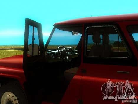 UAZ 315148 pour GTA San Andreas vue arrière