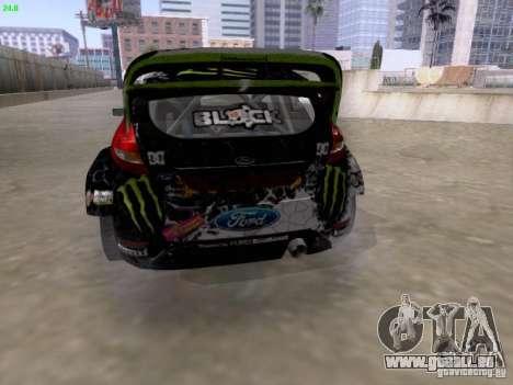 Ken Block Ford Fiesta 2012 für GTA San Andreas zurück linke Ansicht