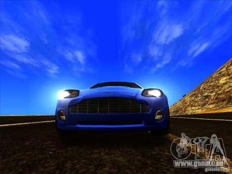 Aston Martin V12 Vanquish V1.0 pour GTA San Andreas vue de côté