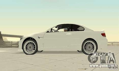 BMW M3 2008 Convertible Hamann für GTA San Andreas rechten Ansicht