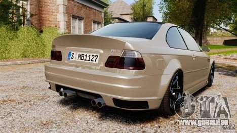 BMW M3 E46 pour GTA 4 Vue arrière de la gauche