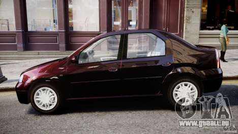 Dacia Logan 2007 Prestige 1.6 pour GTA 4 Vue arrière de la gauche