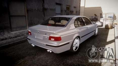 BMW M5 E39 Stock 2003 v3.0 pour GTA 4 vue de dessus