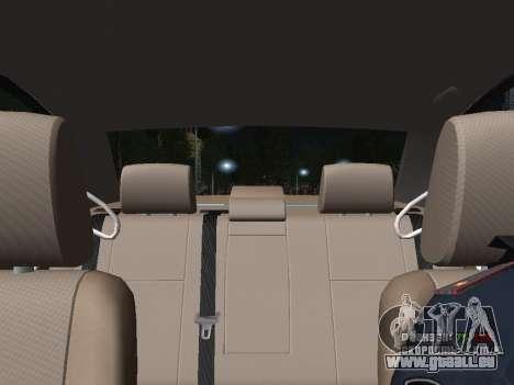 Toyota Avensis DPS pour GTA San Andreas vue de dessus