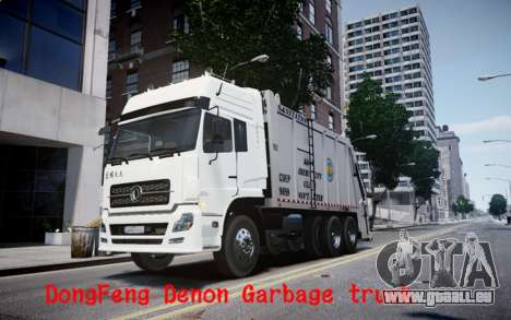 Dongfeng Denon Garbage Truck pour GTA 4