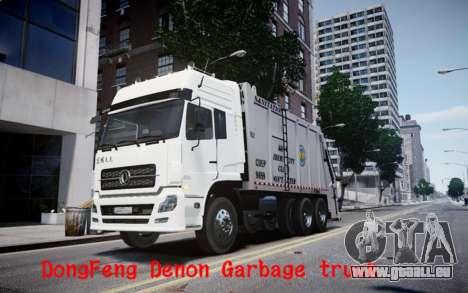 Dongfeng Denon Garbage Truck pour GTA 4