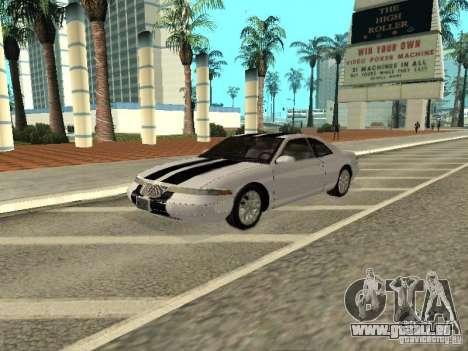 Lincoln Mark VIII 1996 pour GTA San Andreas vue de dessus
