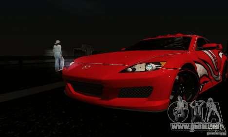 Mazda RX-8 Tuneable pour GTA San Andreas vue de dessus