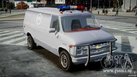 Chevrolet G20 Police Van [ELS] pour GTA 4 est un droit