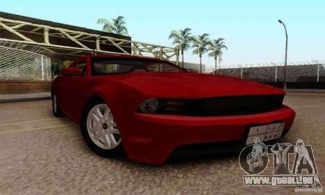 Ford Mustang 2010 pour GTA San Andreas vue arrière