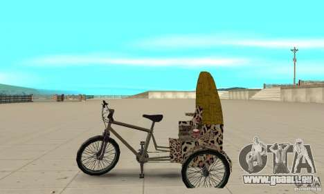 Manual Rickshaw v2 Skin4 pour GTA San Andreas laissé vue