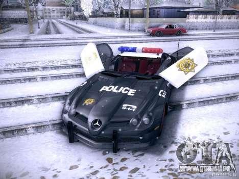 Mercedes-Benz SRL 722 Police für GTA San Andreas rechten Ansicht