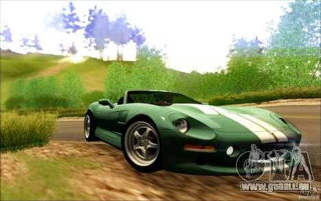 Shelby Series 1 1999 für GTA San Andreas Rückansicht