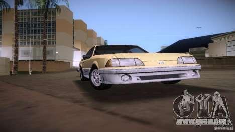 Ford Mustang GT 1993 pour une vue GTA Vice City de la droite