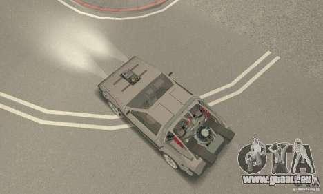 DeLorean DMC-12 (BTTF3) für GTA San Andreas zurück linke Ansicht