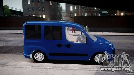 Fiat Doblo 1.9 2009 pour GTA 4 Vue arrière