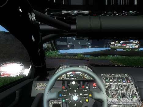 BMW M3 GTR1 pour GTA San Andreas vue arrière