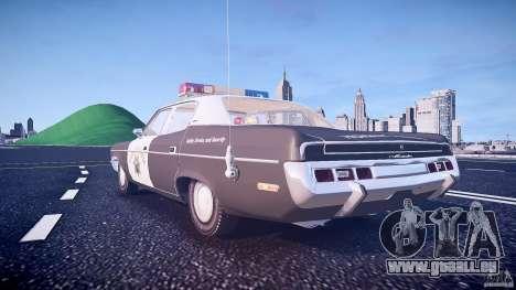AMC Matador CHP [ELS] pour GTA 4 est une vue de dessous