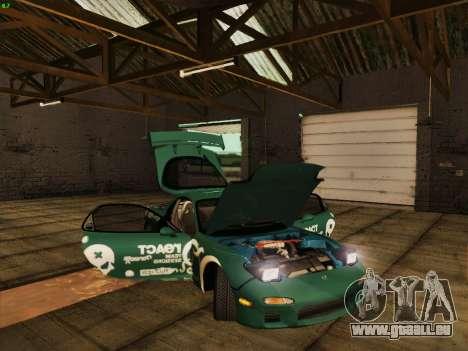Mazda RX7 rEACT pour GTA San Andreas vue de côté